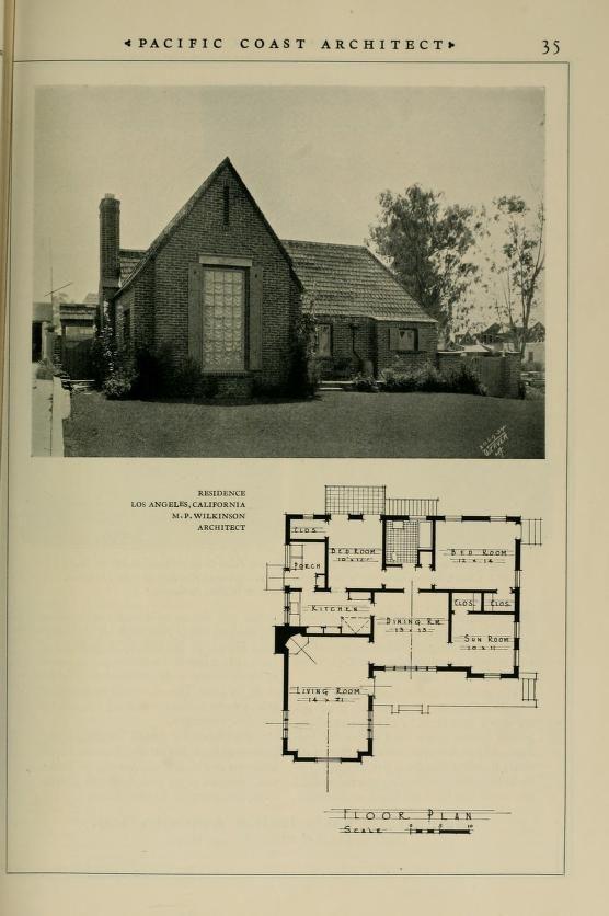 Pacific coast architect | House Plans 1900 - 1930s | Vintage
