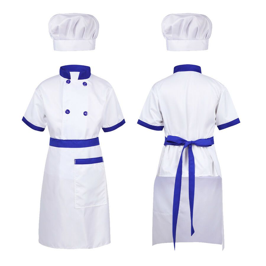 Children/'s Blue//White Chef/'s Trousers Fancy Dress Cooking Kitchen