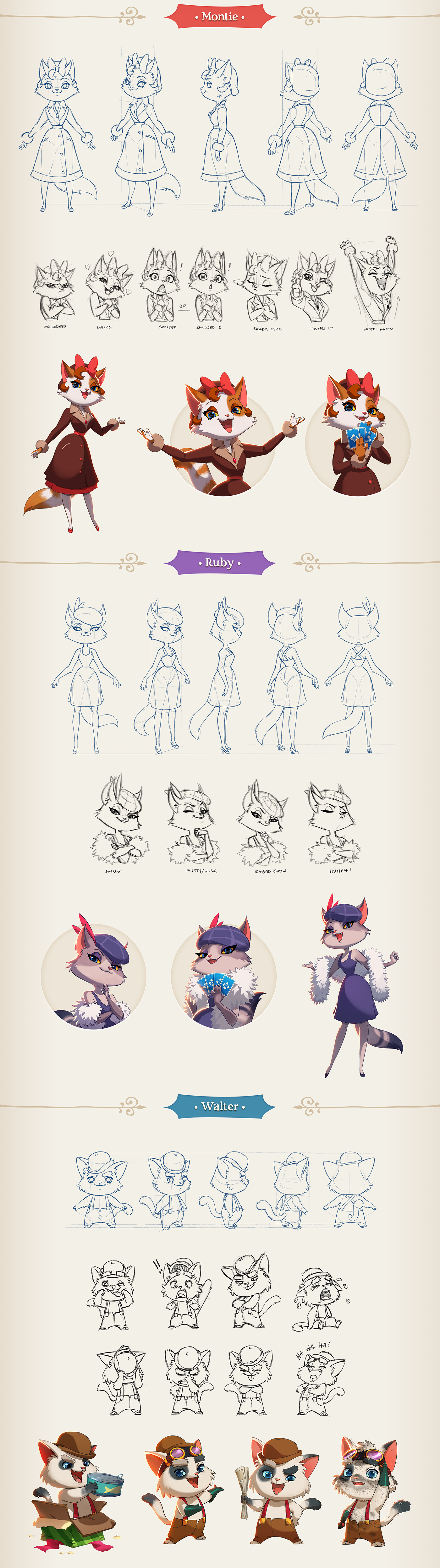 Shuffle Cats The Characters on Behance Animation