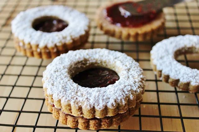 sweet miscellany: Pecan Raspberry Linzer Cookies