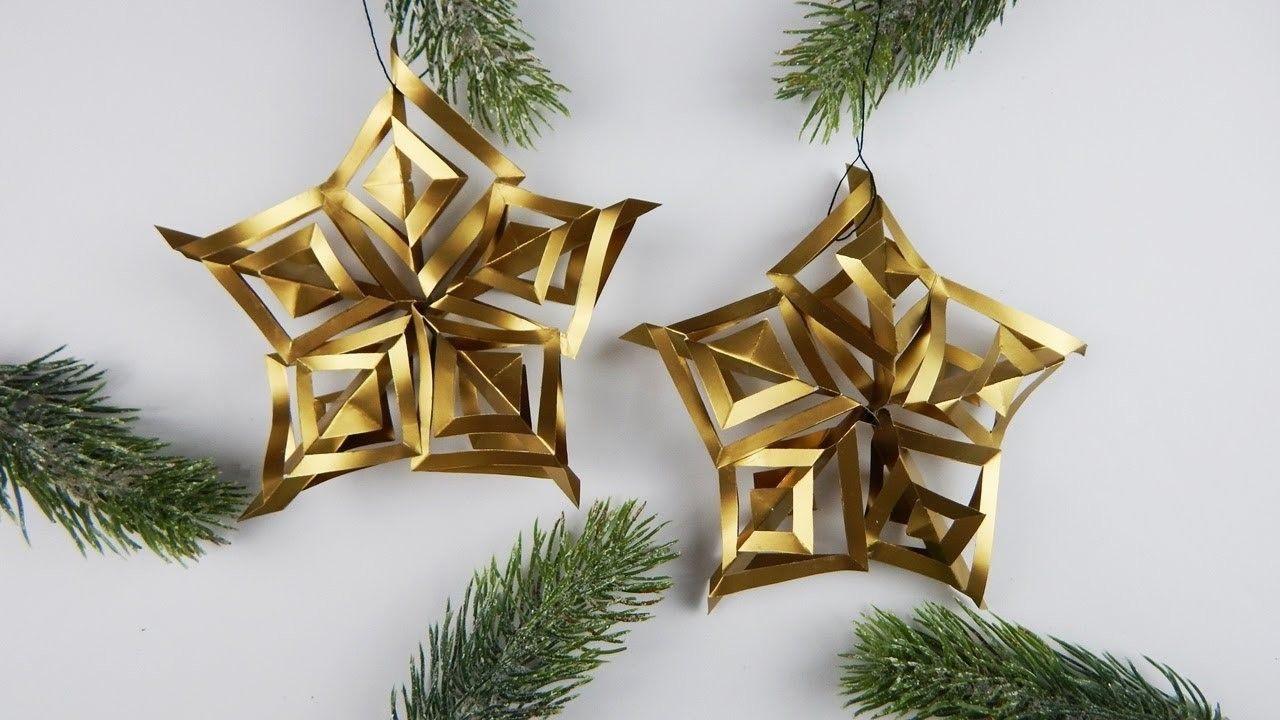 Christmas decoration stars diy papercraft xmas tree ornament deco