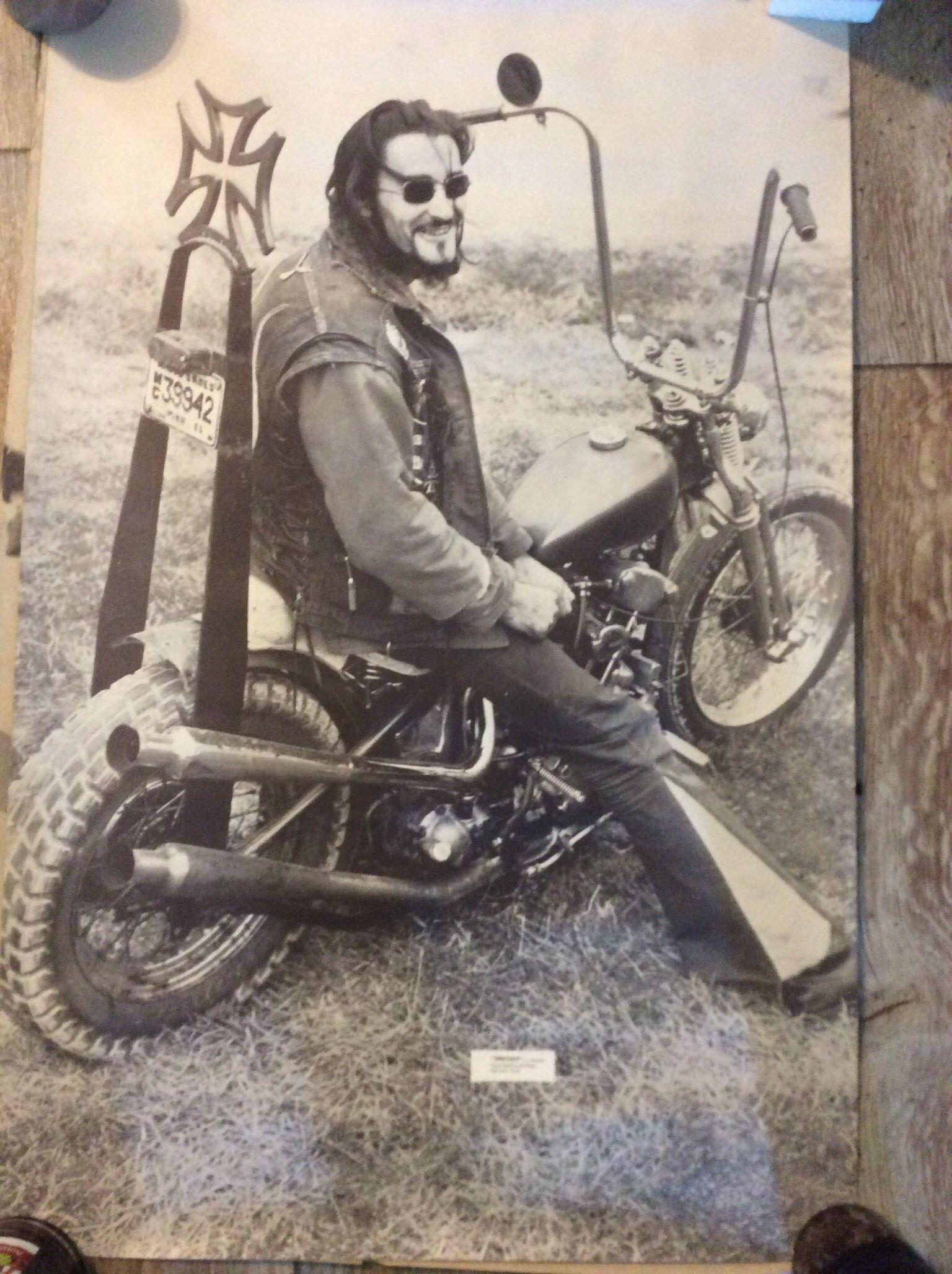 Nostalgic Art Old School Biker #