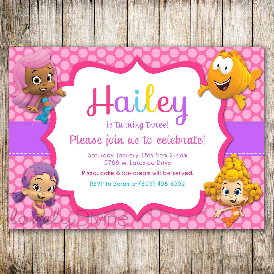 Awesome Free Printable Bubble Guppies Birthday Invitations | FREE ...