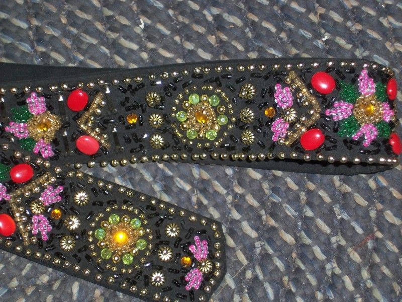 vintge 1960's hippy beaded lady's belt handcrafted