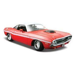Maisto Die Cast 1:24 Scale Red 1970 Dodge Challenger R/T Coupe by Maisto. $12.76. Die-cast metal body with plastic parts. Opening doors with hood or trunk. This vehicle features die-cast metal body with plastic parts, opening doors, hood or trunk and detailed chassis