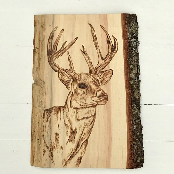 CABIN DEER DECOR - Wood Art - Rustic Wall Decor - Camp Decor - Deer ...