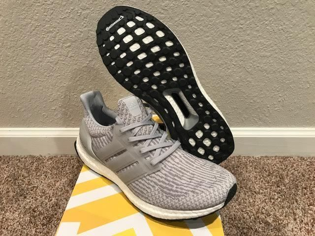 Mens adidas Ultra Boost 3.0 Running Shoes Size 10.5 New In Box  SilverMet/Grey