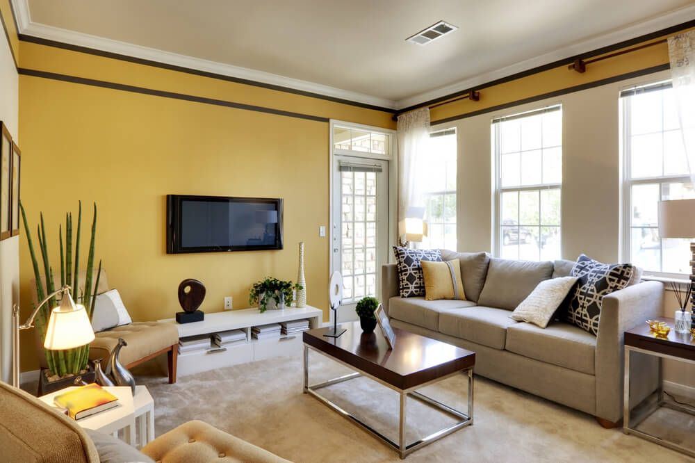 47 beautiful small living rooms living room yellow on best living room colors id=89079