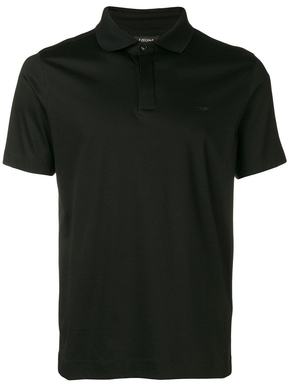 312c53793c Z Zegna regular polo shirt - Black in 2019 | Products | Polo shirt ...