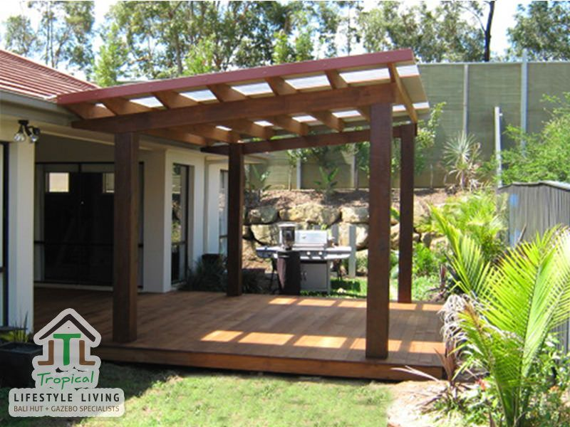 3 X 4m Custom Design Patio Pergola, With Laserlight Roofing, Square Posts  And Timber