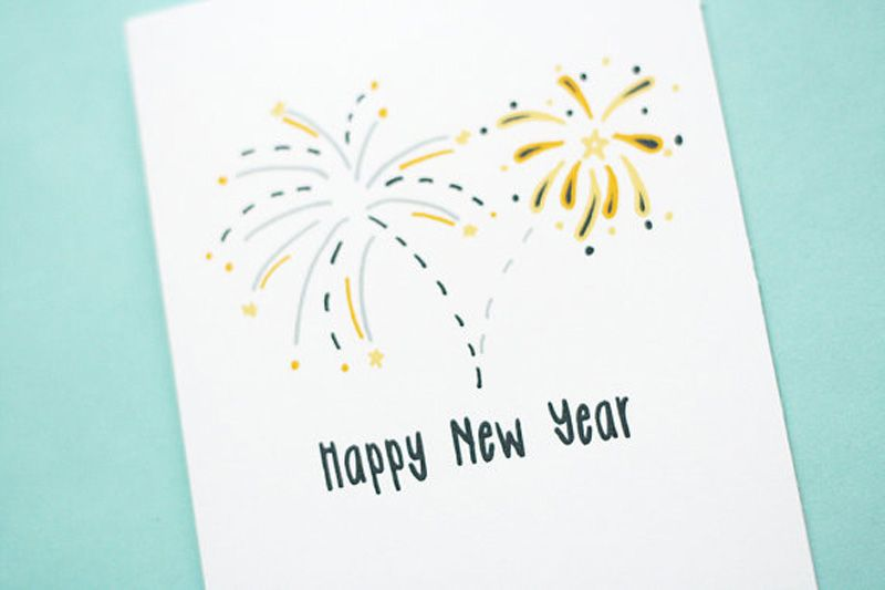 Happy New Year Card | Christmas cards - business | Pinterest