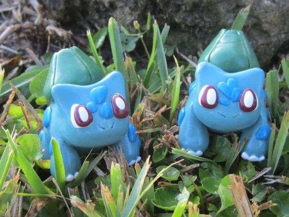 Pokemon Inspired Clay Model Bulbasaur Male and by TheTallGrass, $12.00