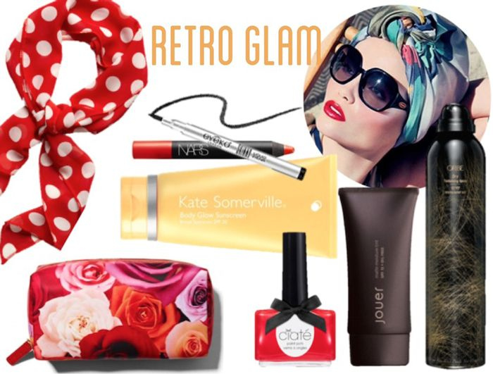 Headed to Palm Springs? Use this simple look book to stay effortlessly stylish your whole trip with just a few key beauty products. #oribe #dry #retro