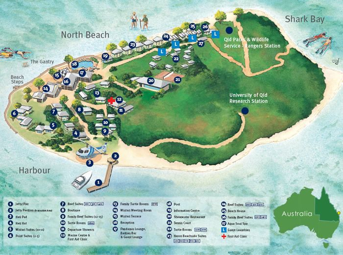 Heron island map Australie Pinterest Australia Island