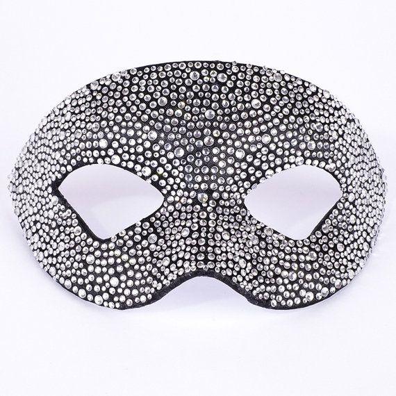 Eye Mask Estro Strass Black Crystal