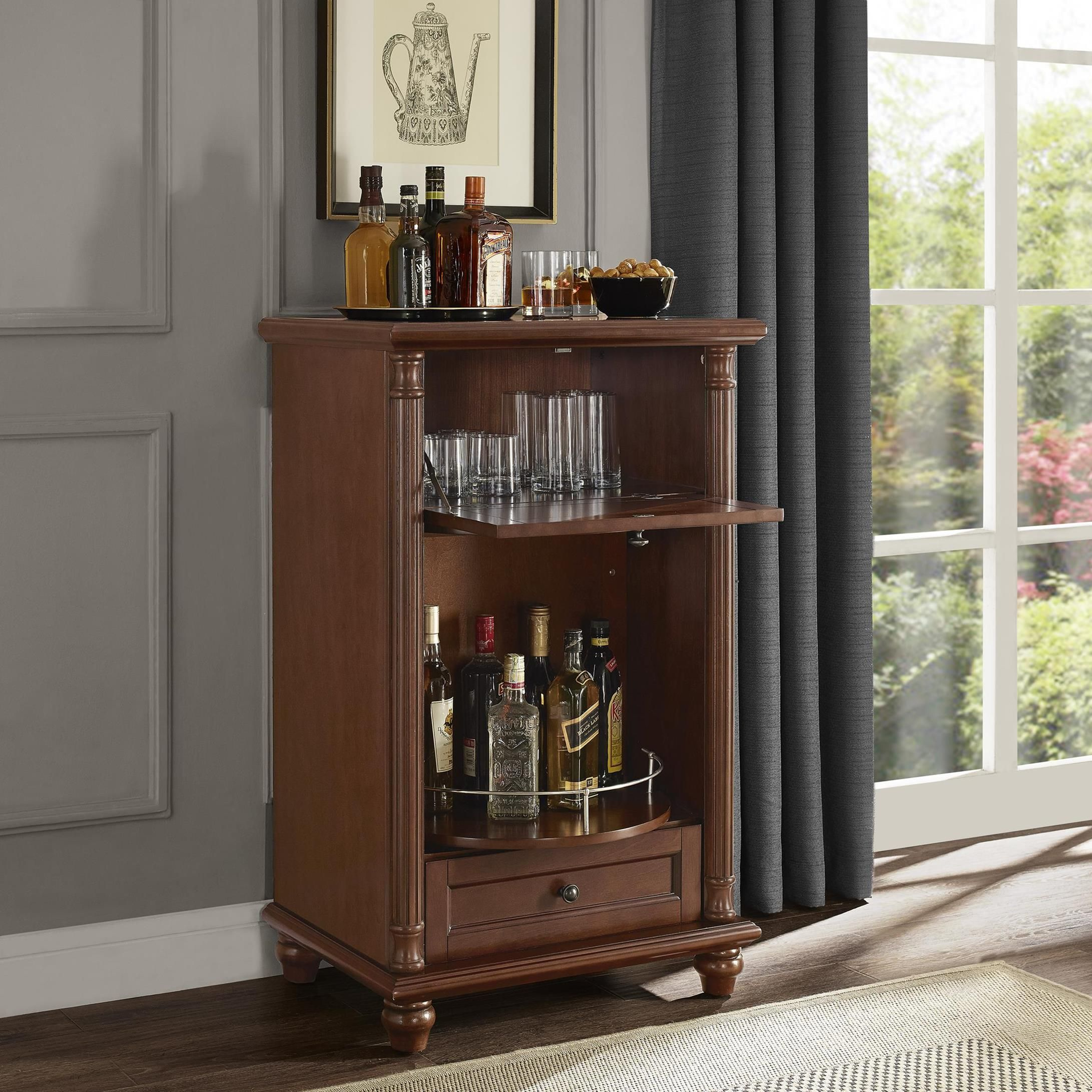 portable for wine hilarious glass material oak ht picturesque cabinet door plus with middle charcoal indulging bronze small bars doors ideas bar type hinges finish storage grand glacier family home salicaire wayfair room hs design