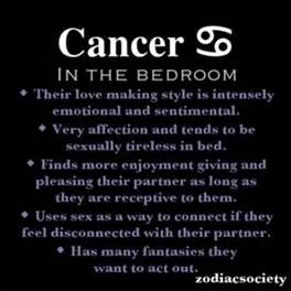 Zodiac sign cancer and sexuality