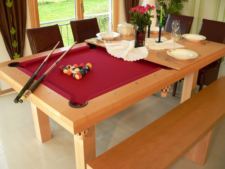 Comedor - mesa de billar, con red | La Villa en ideas | Billares ...