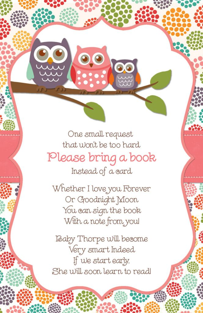 baby shower - giving a book instead of a card!!!!!