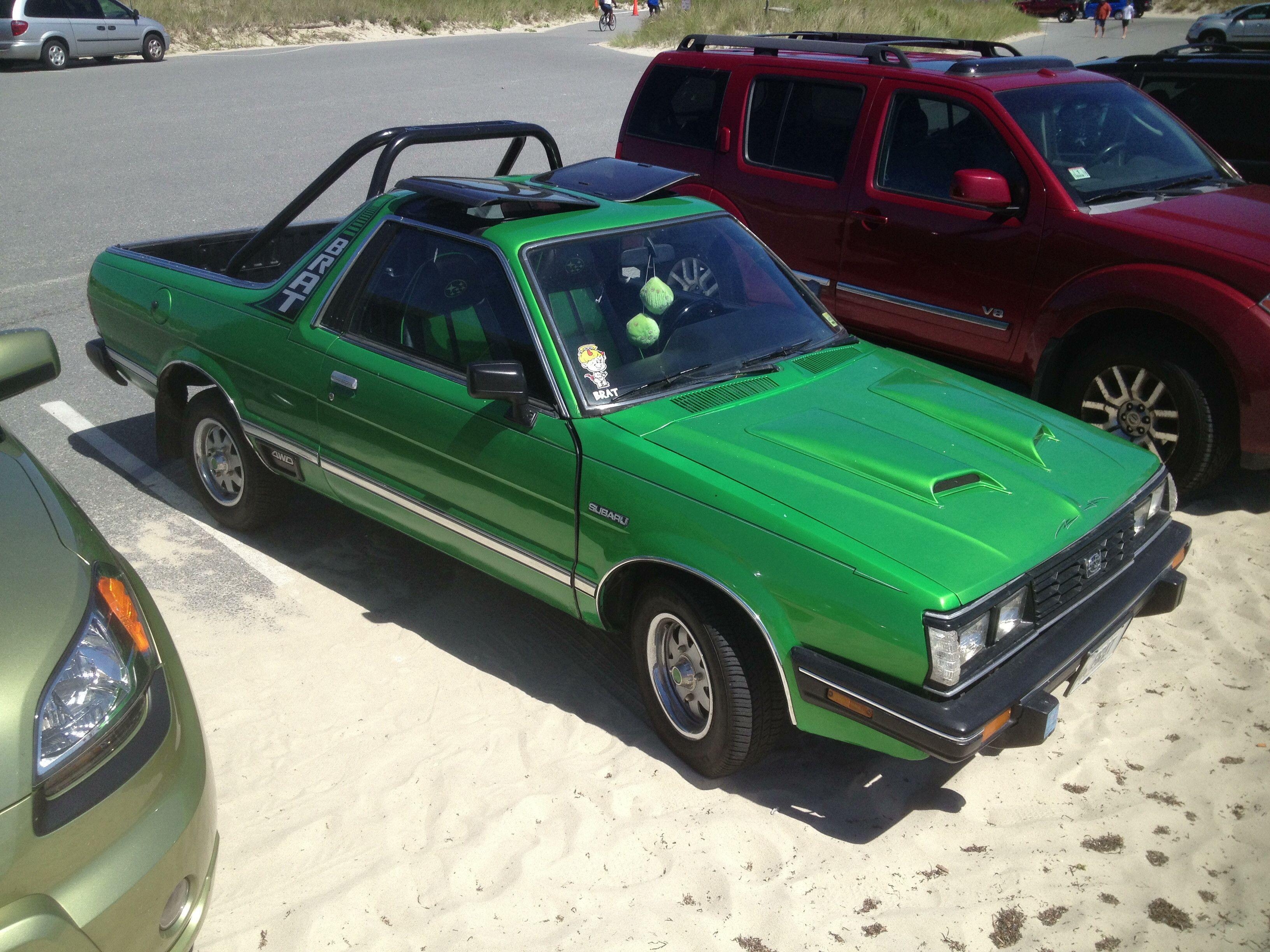 Fully restored Subaru BRAT I spotted last summer on Cape Cod