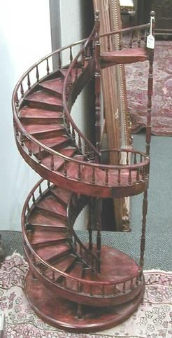 Architectural Staircase Models America A Mahogany Ice S Spiral With