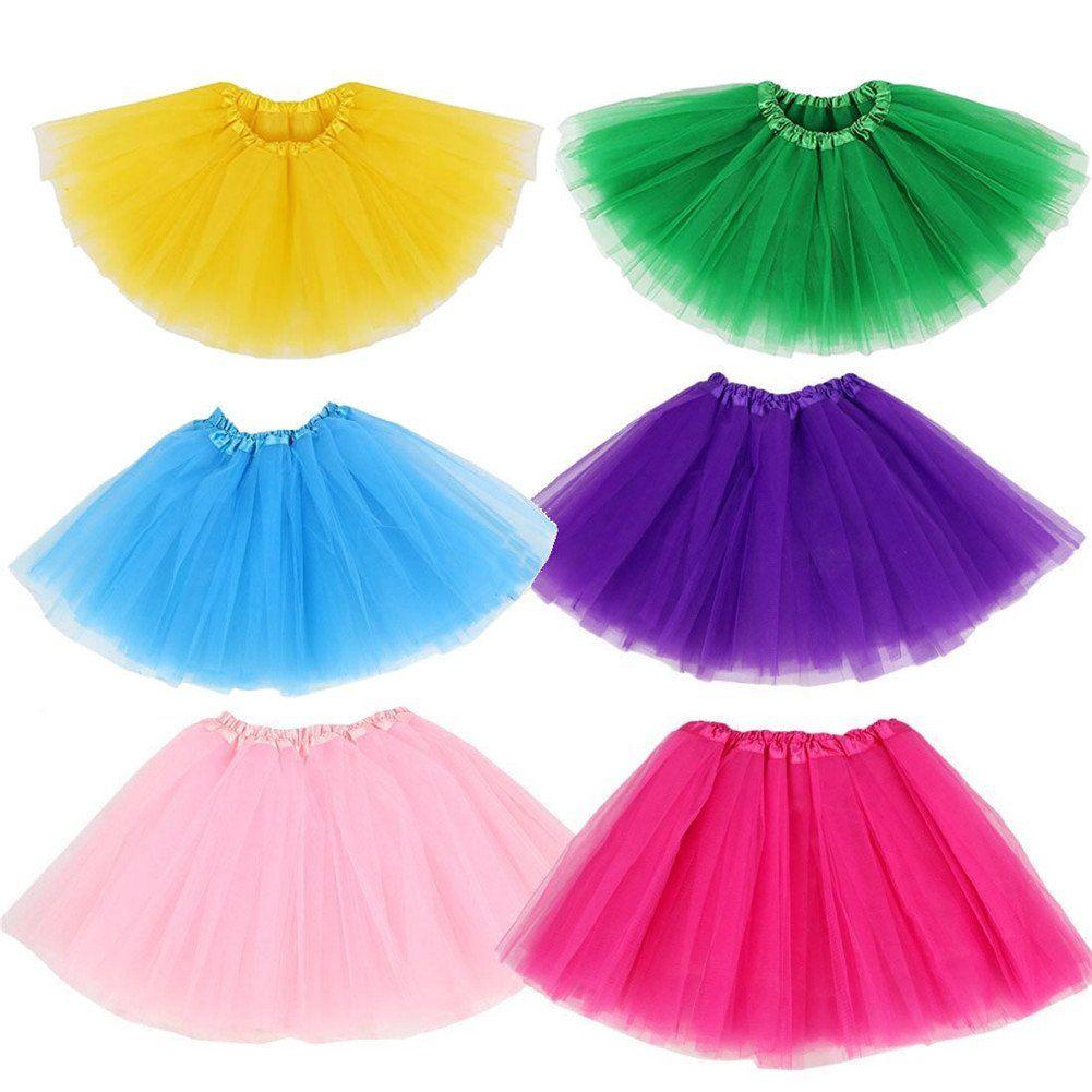27414f9d10e1 6PCS Baby Girls Tutu Colorful Birthday Party Princess Ballet Skirt. 6PCS 6  colors high value