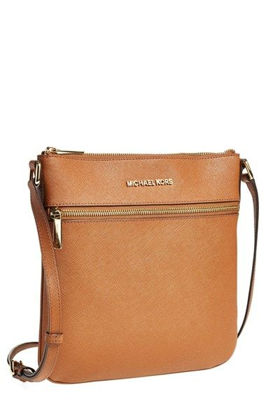 Michael Kors Cognac Leather Crossbody Bag (on sale during Nordstrom's anniversary sale!)