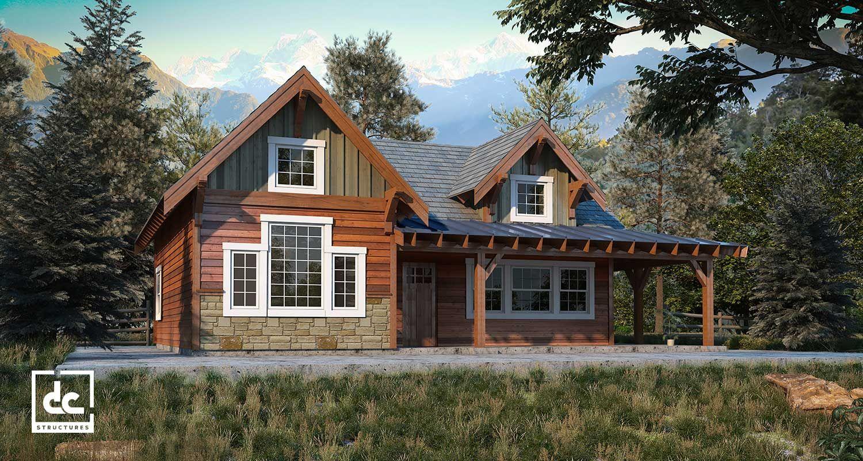 Rogue Cabin Kit 2 Bedroom Cabin Plan Cabin Plans Cabin Kits Small Cabin Plans