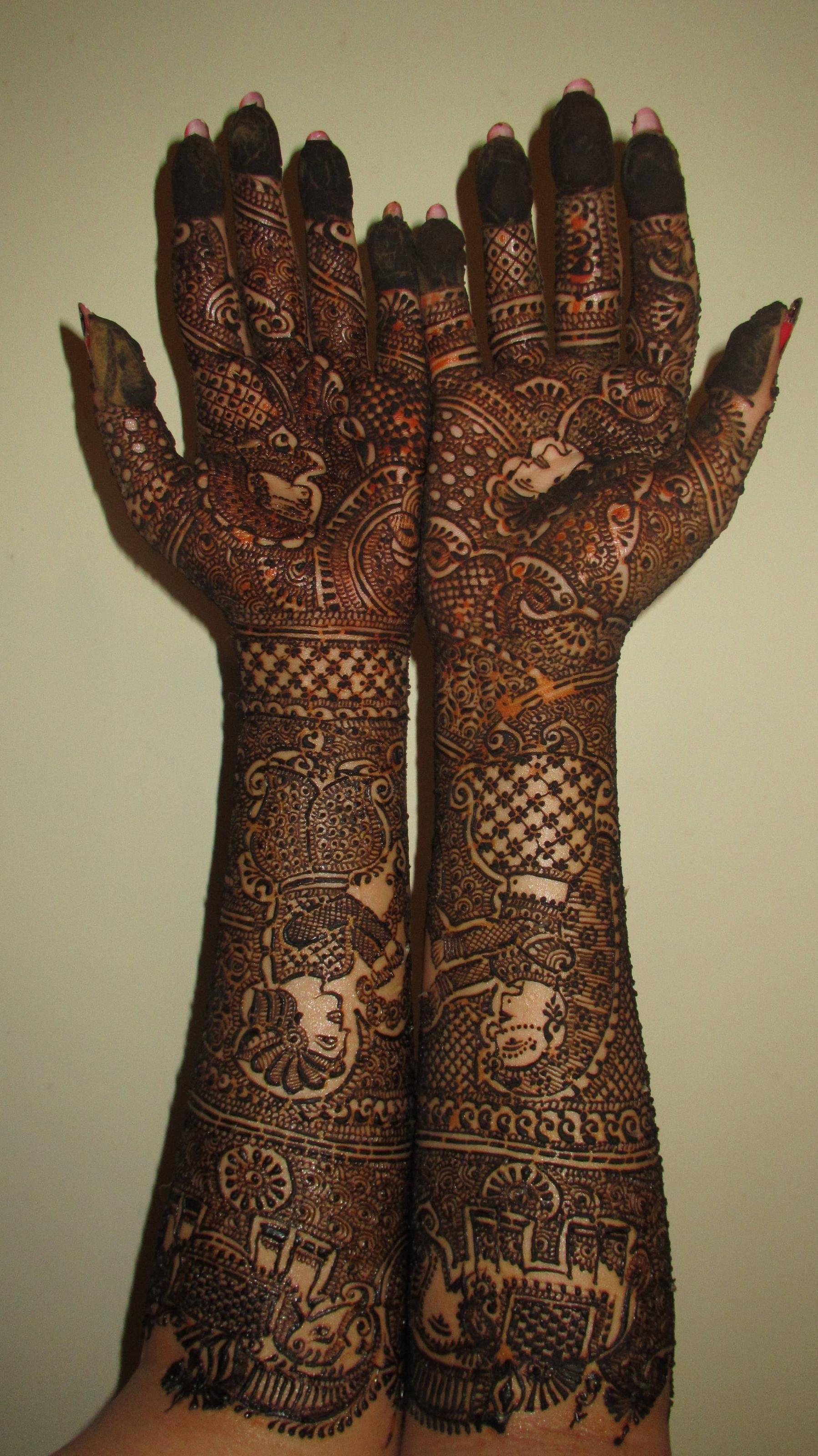 Attractive dulhan henna mehndi design for full hand - Henna Hands