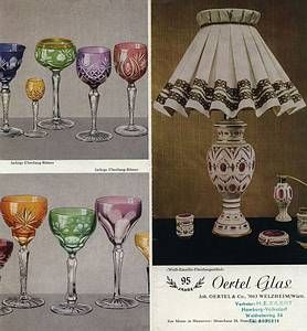 Oertel Glas Kristallglas Muster Bucher Kristalle