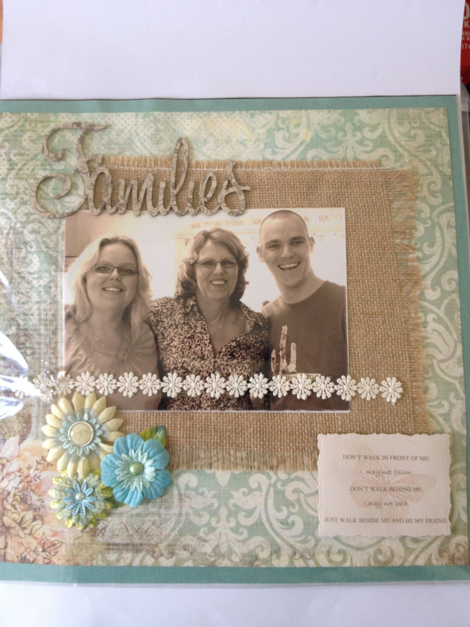 Family Scrapbooking Layout - neutral colours