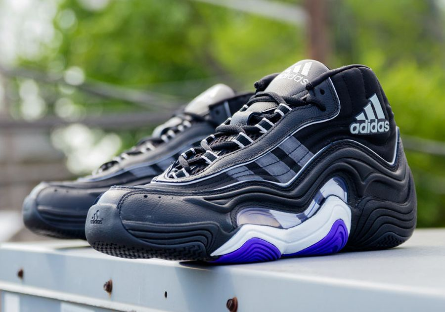 sports shoes 7ebb2 29e91 adidas crazy 2 black power purple 01 adidas Crazy 2 Lakers Away