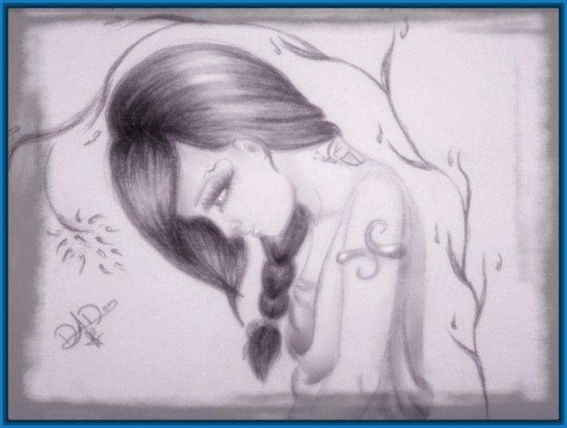 Dibujos De Emos Enamorados A Lapiz Imagui Dibujos Tristes