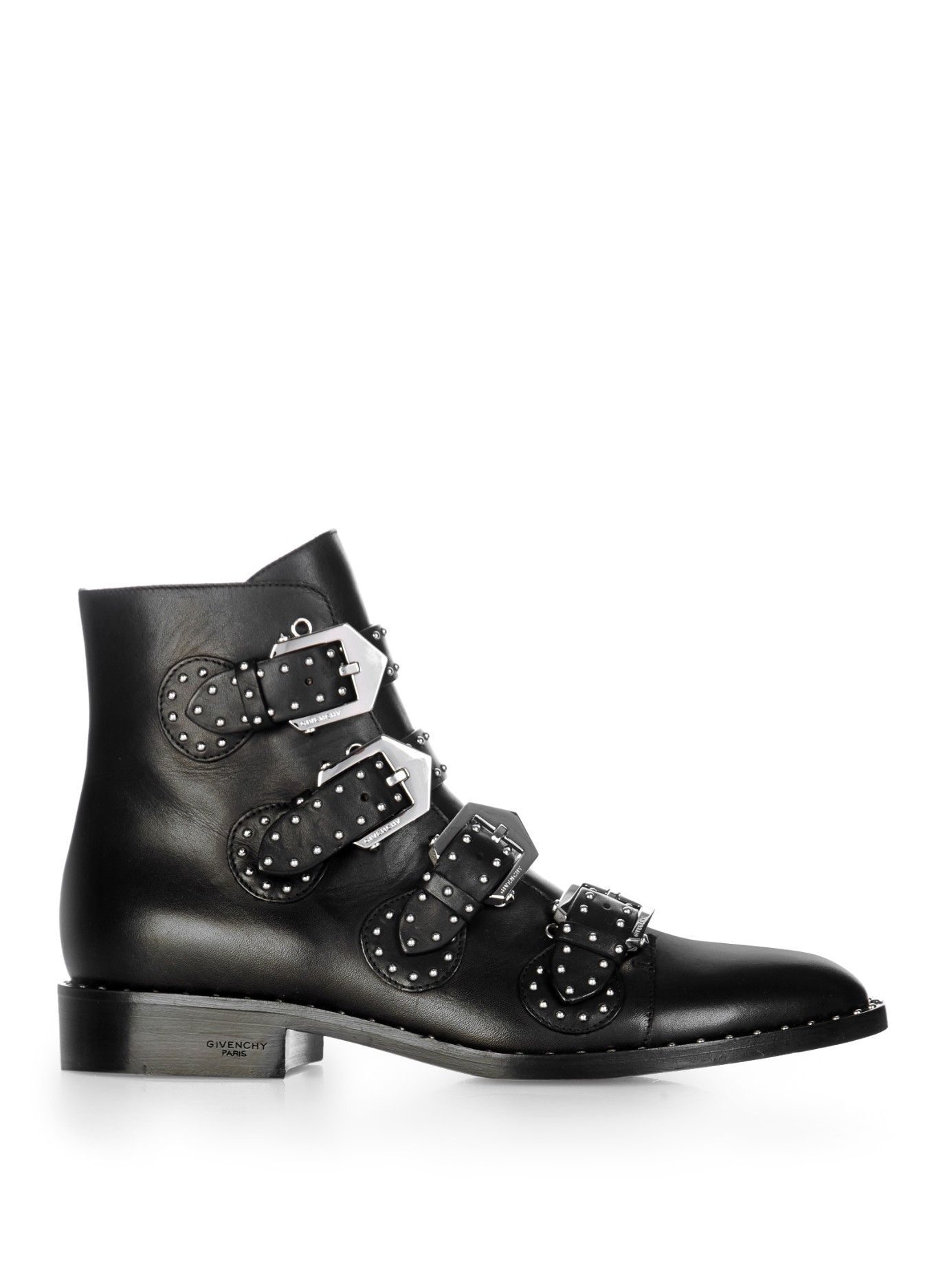 Discount Givenchy Black Prue Studded Leather Ankle Boots for Women Online