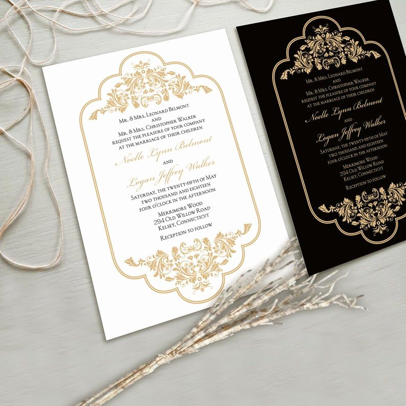 Gold Wedding Invitation Kits Best Of Timeless And Elegant Wedding Invitation Su In 2020 Gold Wedding Invitations Wedding Invitation Card Design Wedding Invitation Kits