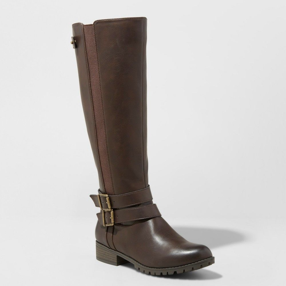 5a034883afc5 Search no further than the Britney Buckle Riding Boots from Universal Thread  for your year-round go-to boot. A classic riding boot design gets extra  comfort ...