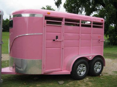 Pink Horse Trailer...need I say more? Breast cancer awareness trailer? I'd be down.