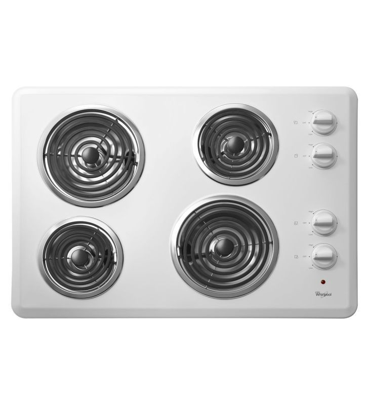 Whirlpool Wcc31430a 30 Electric Cooktop With Dishwasher Safe S White Cooktops