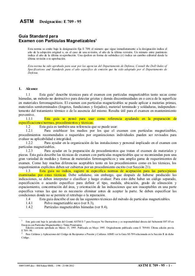 ASTM Designación E 709 - 95Guía Standard paraExamen con - ndt resume format