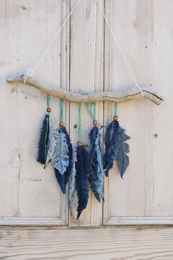Photo of Cómo hacer decoración de pared de plumas de mezclilla – IDEAS DE UPCYCLING