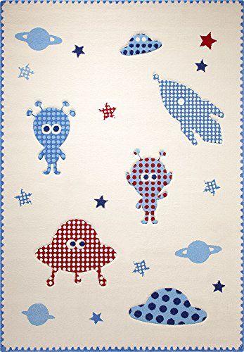 Kinderteppich Little Astronauts in Beige Teppichgr��e: 133 x 200 cm