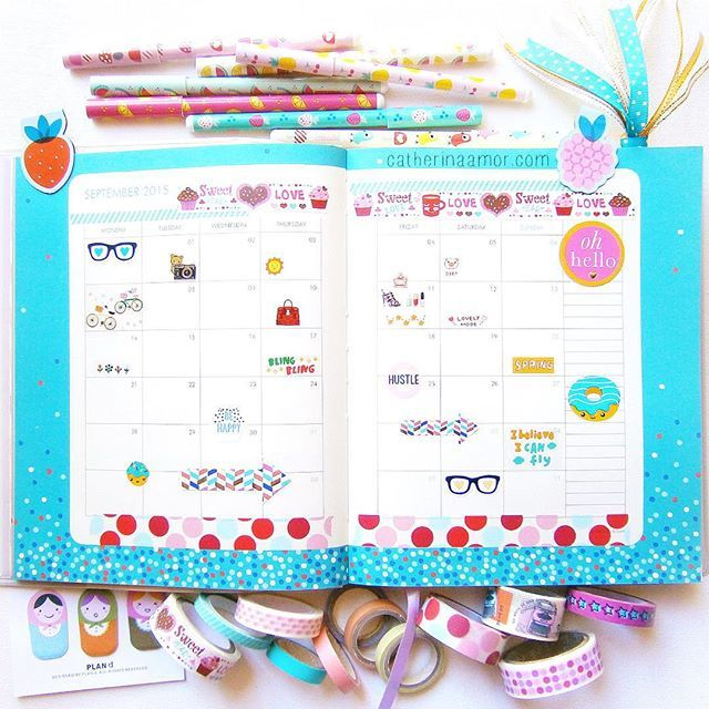 Kikki K 2015 Diary - month of September. by catherina.art