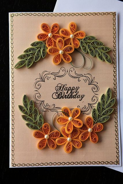 Quilled Birthday Card Quilling Cards Pinterest Cards Quilling