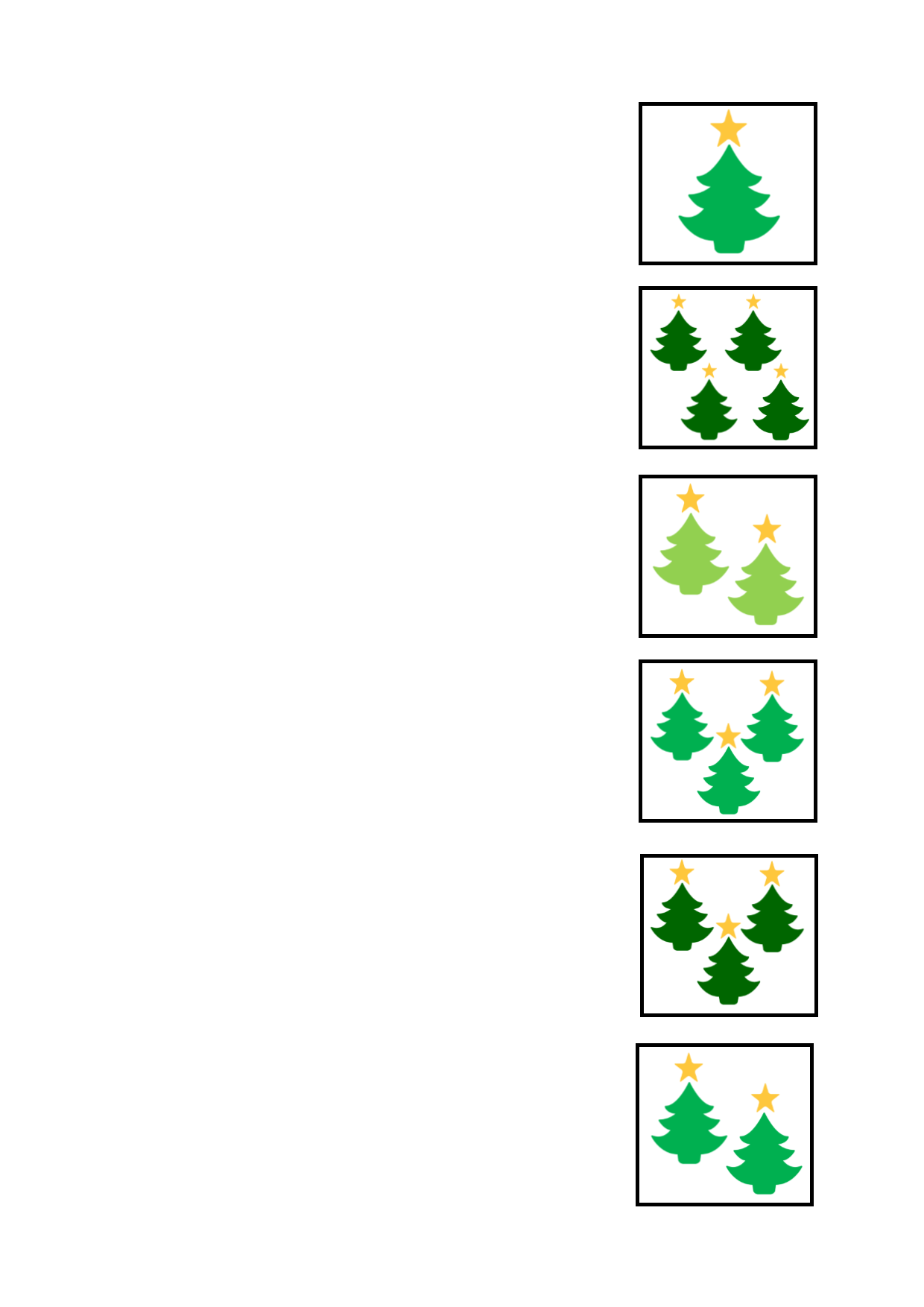 Tiles For The Christmas Tree Logic Game Find The