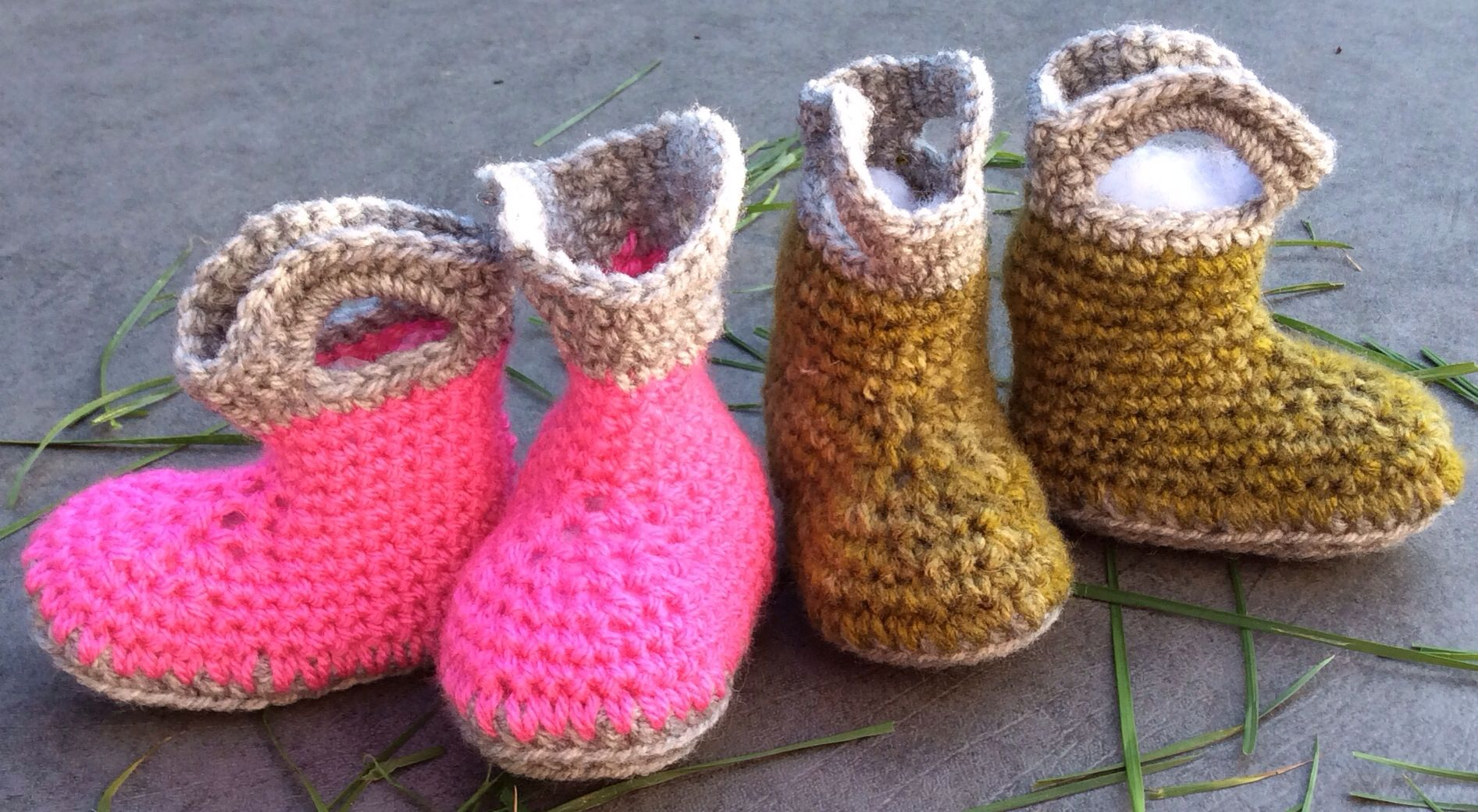 Crochet baby booties - Wellington boots (Inspired by repeatcrafterme ...