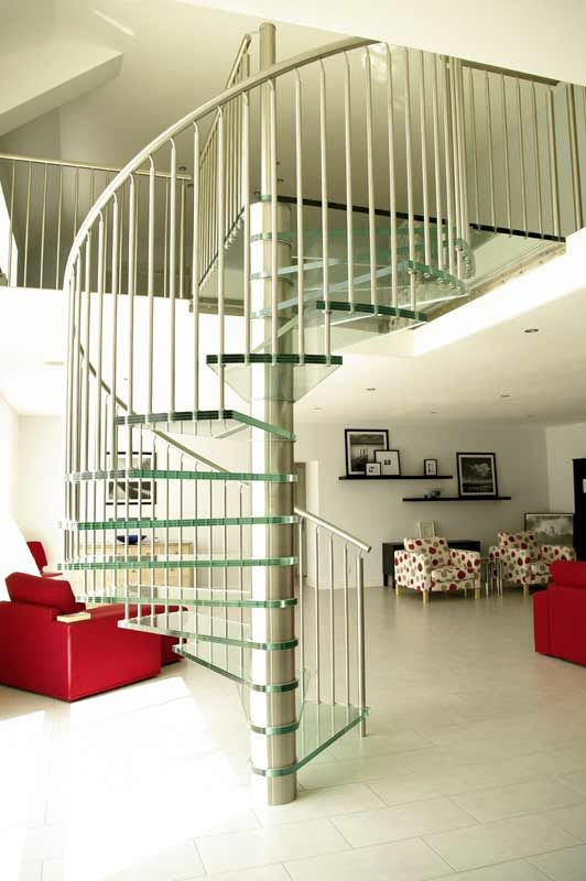 Best Spiral Staircase France Was A Project With A Large Glass 640 x 480