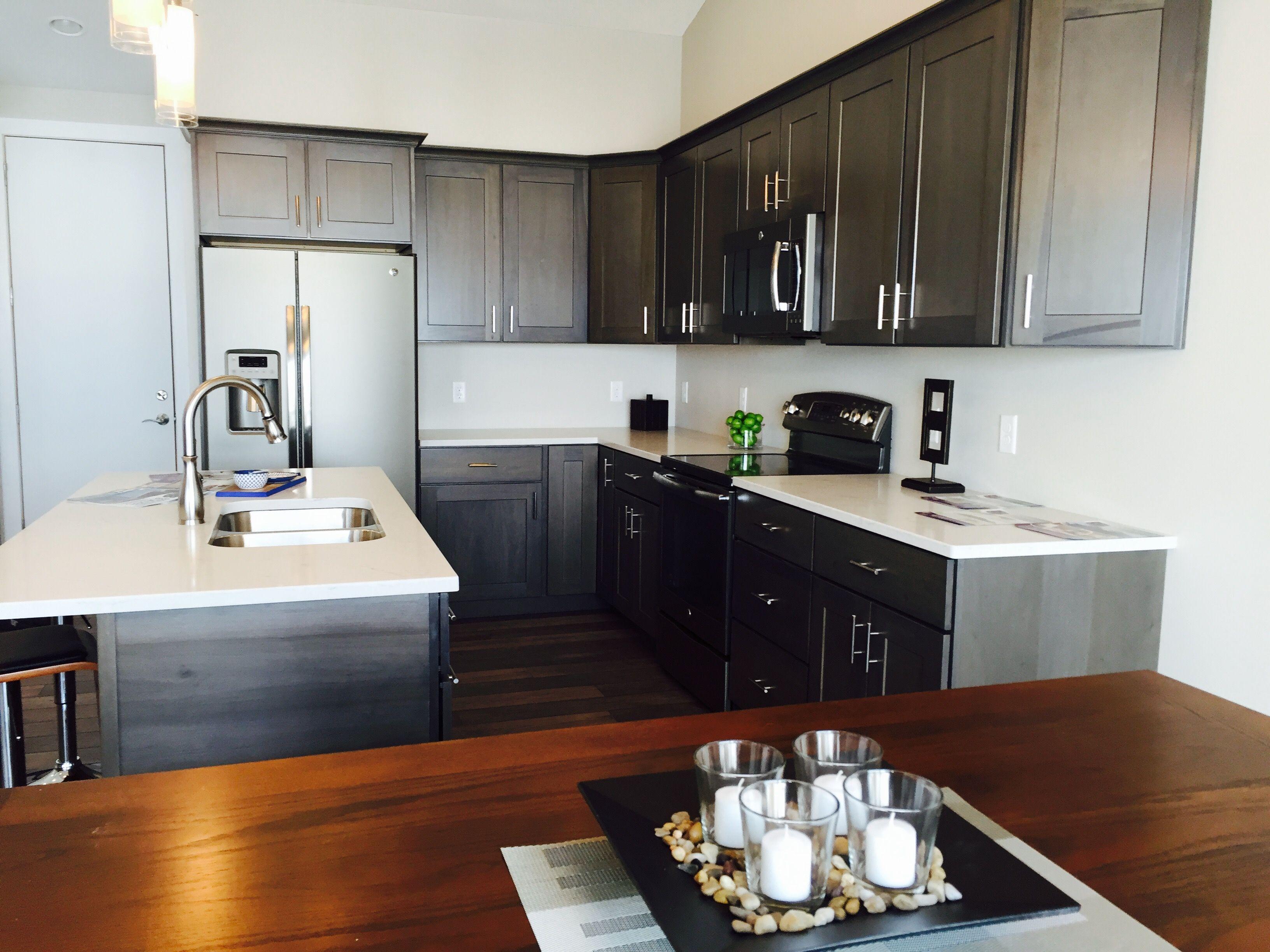 #Truman Kitchen. #Standard #Pendant Lights With #Aspect Lancaster Cabinets,  Color