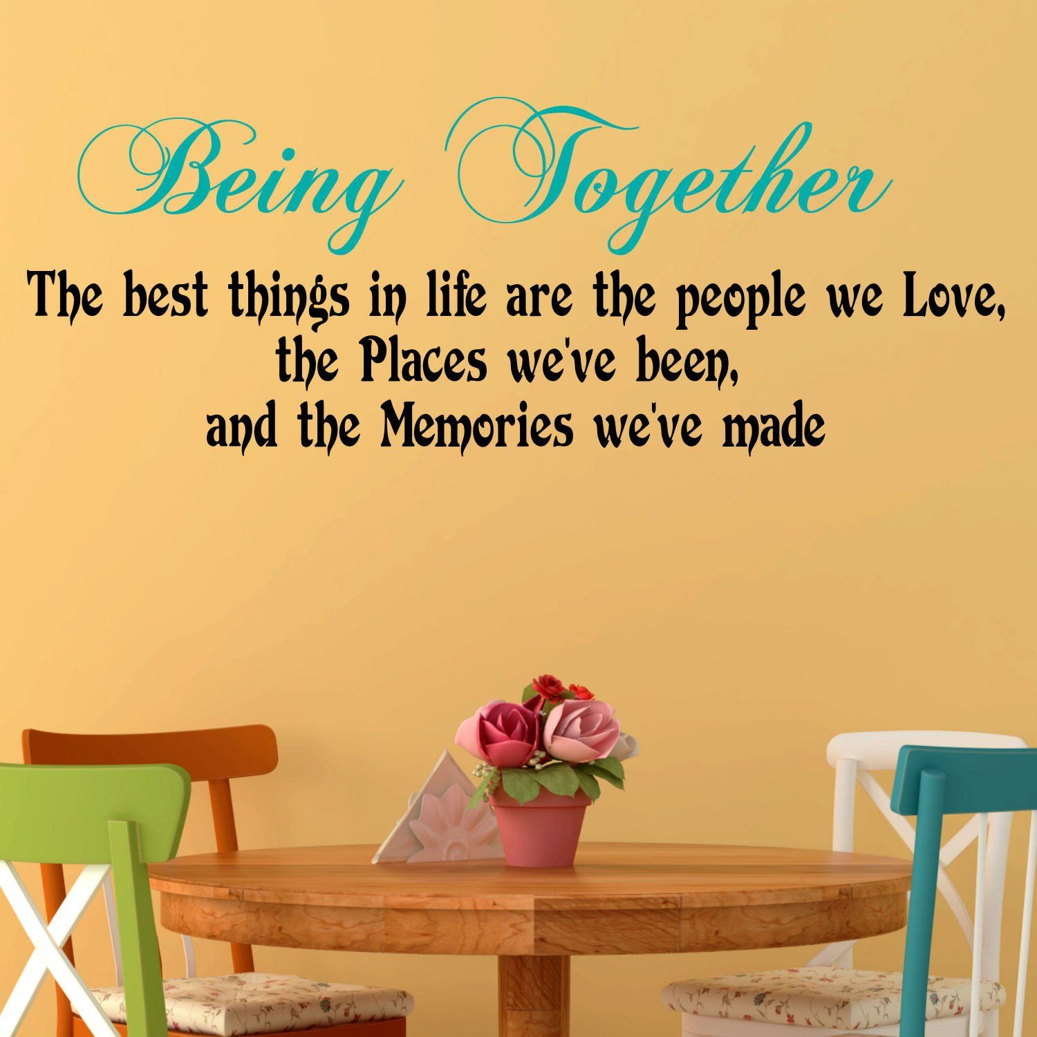 Being Together Two Color Wall Decal | Color walls and Products