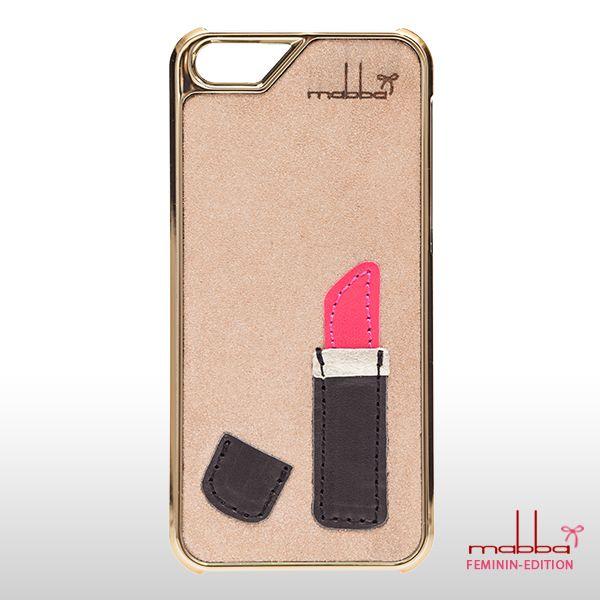 iPhone 5 5s Hülle Leder Case Lipstick Jungle  von mabba auf DaWanda.com