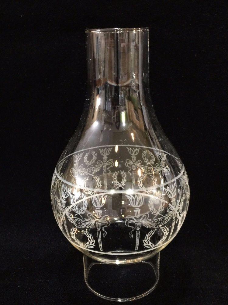 Vintage Hand Blown Glass Hurricane Candle Shades Oil Lamp Chimney Candle Shades Hand Blown Glass Hand Blown
